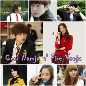 "Cool Namja  N' Fire Yeoja Tittle : Cool Namja  N' Fire Yeoja Author : Kim Soohyun @Miftha_Mj Genre : Friendship, Romance, Comedy(?) Cast :  •Kim Myungsoo / L (Infinite) •Park Jiyeon (T-Ara) •Bae Suzy (Miss A) •Lee Sungyeol (Infinite) •Choi Minho (Shinee) •Choi Sulli (FX) •Yoo Seungho •Soon Naeun (A Pink) •Other cast find by your self Length : Chaptered  ANNYEONG, AKU AUTHOR BARU DISINI, *bow* ^^ INI FF PERTAMA SEKALIGUS BATU SANDUNGAN AKU,, WKWK (author alay) MAKLUM KALO BANYAK TYPO, AND GAJE GAJE DIKIT,, JANGAN LUPA COMENT YA READERS..  OKE.. '-')b HAPPY READING YA... ^^ Part 1 Author's POV Hari menunjukkan pukul 08.00 malam, seorang yeoja yang imut sedang berkonsentrasi membuat hiasan gelang persahabatan  yang akan diberikannya untuk chingu terbaiknya Bae Suzy. Rambutnya yang panjang menghalangi matanya dan itu membuatnya jadi sedikit kesal.  ""Omo!!!!!!! Rambut ini"" ucapnya sambil menghebuskan poninya yang ikut mengganggu pandangannya. Karena kesalnya yeoja imut itu pun mengikat rambutnya yang indah yang terurai itu dengan ikat rambutnya.  ""Akhirnya selesai juga,"" ucapnya sambil nyegir kuda ( kuda siapa ya?? Mangnya kuda bisa nyegir ya(?) ) ""Moga-moga Suzy-ah suka gelang ini,"" katanya kemudian sambil senyum bahagia. Dan dia mengingat....   ~ FLASH BACK ""Omo! Ottokhae? Perlengkapan MOSku rusak nih. Ottokhae? Ottokhae?"" ucap Jiyeon dengan galaunya (galaunya tingkat dewa kali ya hahhaha).  "" Gara-gara aku jatuh tadi nih. Aishh!!"" ucap Jiyeon sambil mengacak-acak rambutnya. Lalu seorang yeoja cantik mendekati Jiyeon, dan menyapanya  "" Annyeong, perlengkapan MOSmu kenapa? "". Jiyeon pun melihat ke arah yeoja yang menyapanya itu,  ""Annyeong, perlengkapan MOSku rusak. Gara-gara aku jatuh tadi, "" ucap Jiyeon datar.  ""Omo! Kita perbaiki yuk! Ntar kau telat ke acara penutupan MOS kita,"" ucap yeoja cantik itu kemudian sambil tersenyum ramah.  "" Kamu mau menbantuku?? Jjinjjayo?? Jeongmal??"" tanya Jiyeon tak percaya.  ""Ne. Ayo!""ucap yeoja itu kemudian. Akhirnya perlengkapan Mos"